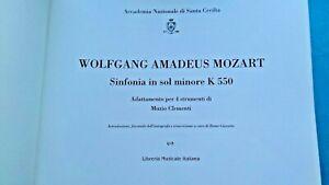 Mozart-Clementi. Sinfonia kv 550 adatt. per 5 strumenti LMI S.Cecilia Roma