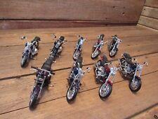 Vintage LOT Harley Davidson H-D Motorcycles By MAISTO