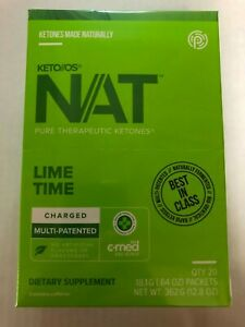 Pruvit NAT KETO//OS Lime Time Charged 20 Packets New Box Sealed Free Shipping!!