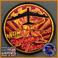 """""""Now It's Miller Time"""" B-52 Stratofortress Morale Patch, Barksdale / Minot AFB"""