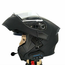 BT-12 Motorbike Helmet Headset Bluetooth Motorcycle Intercom Headphone FM GPS UK