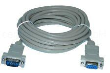 5m RS232 Verlängerung Buchse auf Stecker - serielles Kabel SUB-D 9 polig