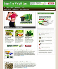 GREEN TEA WEIGHT LOSS ADVICE WEBSITE & AFFILIATE STORE WITH DOMAIN