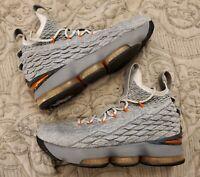Nike Lebron James XV GS Basketball Shoes 922811-080 Safety Orange Youth Sz 7 M