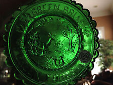 Pairpoint Cup Plate Green Briar Green Forest  Good Condition
