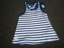 Girls' Striped 100% Cotton Strappy/Cami T-Shirts, Top & Shirts (2-16 Years)
