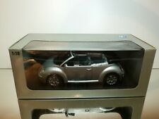 GATE 24107 VW VOLKSWAGEN NEW BEETLE CABRIO - SILVER 1:18 - EXCELLENT IN BOX