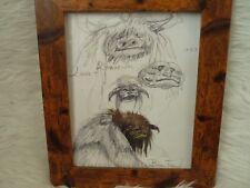 Framed Original Print Jim henson Labyrinth loot crate DX #18 creatures bowie