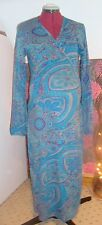 BNWT Ladies MATERNITY Teal Floral Long Sleeved Wrap Dress 14