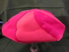 Vintage 60s jacoll Cyclamen Rosa Terciopelo Y Seda Boina Sombrero Estilo -