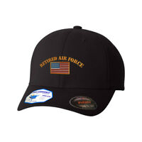 Flexfit Hats for Men & Women Retired Air Force Embroidery Dad Hat Baseball Cap
