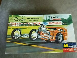 Vintage Model Kit The Sizzler Dragster w/Box Instructions Decals 1960s