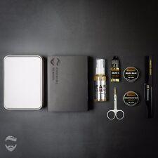 Barba Grooming Kit, Barba Bálsamo, Barba, Bigote Cera, peine de aceite, café negro 8pc