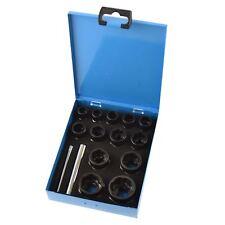 "15pc 3/8"" 1/2"" Dr Bolt Nut Twist Socket Wheel Lock Nut Remover Extractor 9-27m"