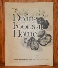 1977 USDA Bulletin 217 Drying Foods At Home Homemade Food Dryer Plans Instuction