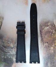 NOS Gucci Matte Black Leather Double-Notch Watch Strap 16mm R