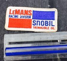 ORIGINAL LEMANS RACING SNOBIL SNOWMOBILE OIL  PATCH A