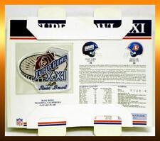NFL 1987 SUPER BOWL XXI 21 New York GIANTS vs Denver BRONCOS Patch Card Simms