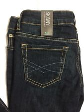 Aeropostale Jeans Size 4 Short Every Day Skinny Fit Low Rise Dark Distressed