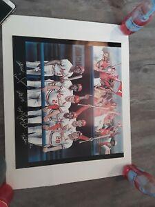 Multi Signed St. Louis Cardinals Legends Print!! Hof!!