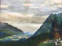 Rudolf Wessel 1934 Blick ins Tal Gouache Dresden Kiel 33,5 x 43,5