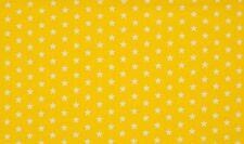 Baumwoll Jersey Sterne gelb weiß Meterware Kinderstoff Sternchen Stars