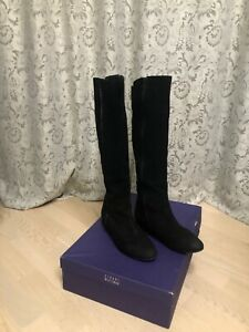 Stuart Weitzman Stretchy Knee High Boots Black Suede EUR 37,5 (US 7)