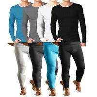 FULL SET MENS THERMAL UNDERWEAR,LONG SLEEVE VEST TOP , LONG JOHNS ALL SIZES