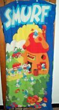 SMURF Vintage Sleeping Bag Cotton Wenzel brand 1980's Smurfs GREAT CONDITION!