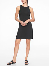 Athleta Santorini High Neck Solid Dress Black S Small