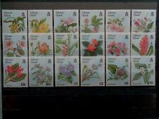 SOLOMON ISLANDS 1987 FLOWERS DEFINITIVES 18v MH MINT COMPLETE SG580/597