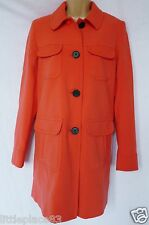 new NEXT BNWT RRP60 ladies winter trench coat coral pink lined smart  size 12