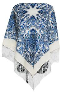 Amazing Authentic Russian Pawlowo-Poasad, Pavlovo Posad Scarf Shawl 100% Wool