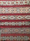 Antique Turkish kilim rug, vibrant tribal pattern 220x90cm circa 1950s