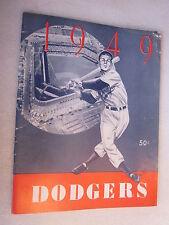1949 Brooklyn Dodgers Baseball Yearbook B