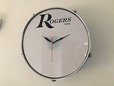 "12"" ou 13"" tom tom horloge avec Rogers Logo Cadeau Idéal Drum Kit"