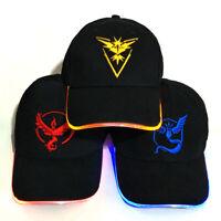 LED Pokemon Go Hat Baseball Peaked Cap Hip-Hop Mystic InstInct Valor Embroider