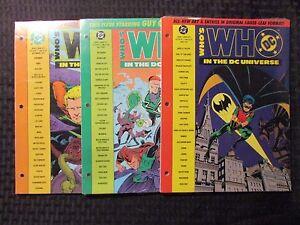 1991 WHO'S WHO DC Universe #10 11 12 SEALED Hawkman Aquaman LOT of 3