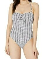 NWT Women's Tommy Bahama Island Cays Bandeau One Piece Swimsuit, White, Size 8