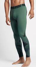 NIKE PRO Men's HyperWarm Compression Legging Green Stone Black Medium M