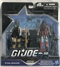 2015 Hasbro GI Joe 50th TROOP BUILD-UP Set Steel Brigade Iron Grenadier Figures