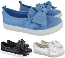 Zapatillas deportivas de mujer planos de ante