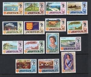 Jersey 1969 Complete QEII Set - OG MNH - SC# 7-21