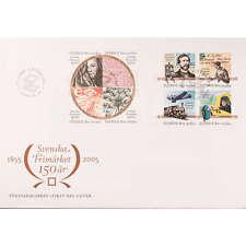 """Schweden Nr. 2474-2481 FDC Ersttagsbrief """"150 Jahre Briefmarken"""" Marke auf Marke"""