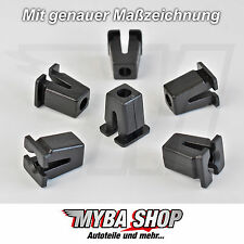 5x Tuerca de expansión VW CLIPS Universal para carrocería Negro 867809966 #
