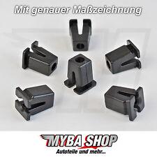 5x spreizmutter VW KLIPS universal para carrocería negro 867809966 #neu #