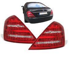 CLEAR LED REAR BACK LIGHTS FOR MERCEDES S CLASS W221 PREFACELIFT SALOON