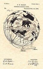 Patent Print - Terrestro Sidereal Globe 1886 Art Print. Ready To Be Framed!