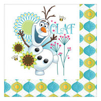 "16 Disney's Frozen Fever Olaf Snowman Party Disposable 6.5"" Paper Lunch Napkins"