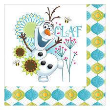 "16 Disney's Frozen Fever Olaf Snowman Party Disposable 6.5"" Paper Lunch Napkins"